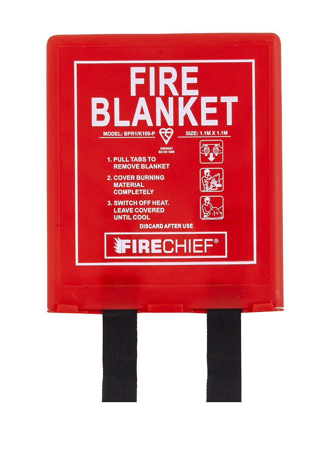 Firechief HS20//RED Double Flat Base Extinguisher Stand Red